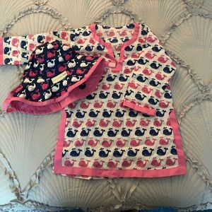 Infant Pottery barn cover up and hat